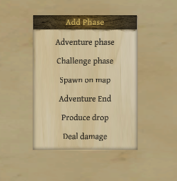 5a. event phases menu